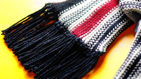 how to add tassels to a knitted scarf how to add fringe to a crochet or knit project 13 steps