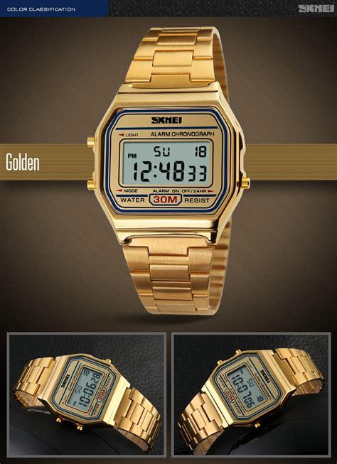 Skmei 1123 Gold wholesale skmei 1123 business led digital luxury