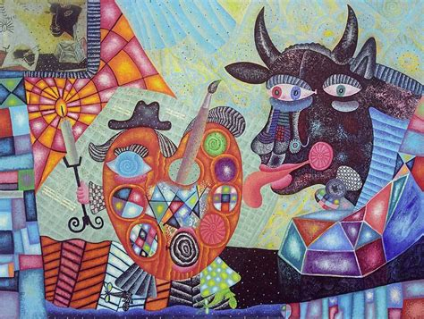 picasso paintings bull blessing with a bull a gift for pablo picasso vladimir