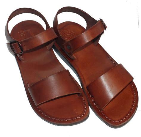 camel sandals the jesus leather sandals handmade brown