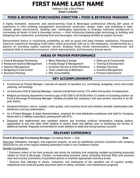 Resume Samples Director Operations by Top Hospitality Resume Templates Amp Samples