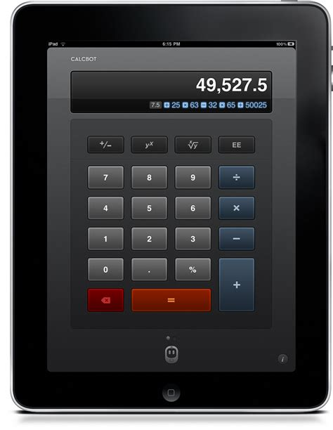 calculator on ipad calcbot a beautiful new take on calculators for iphone