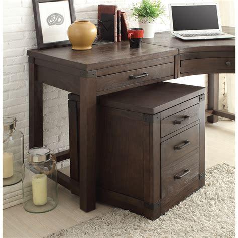 curved corner desk riverside furniture promenade 3 drawer curved corner desk