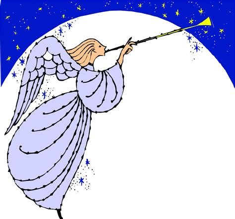clipart angeli blowing trumpet clipart clipartsgram