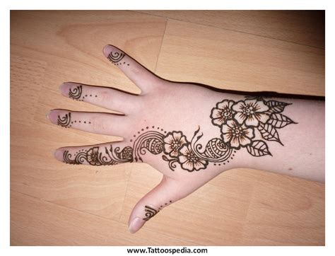 lotus flower henna tattoo designs 4