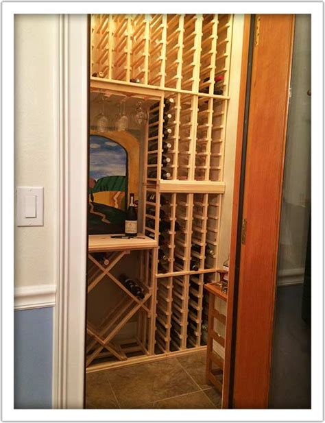 Diy Wine Cellar Closet by Diy Wine Rack Ideas Projects And Install Kit