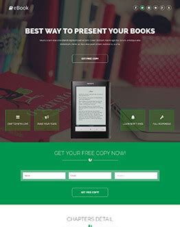 best ebook landing page template to sell your ebook online