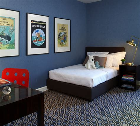 boys blue bedroom furniture blue room black furniture via cool little boys
