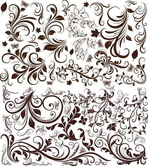 vintage floral design elements vector free download free vector retro floral elements free vector graphics