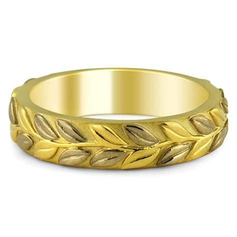leaf pattern eternity ring custom ring eternity leaf band