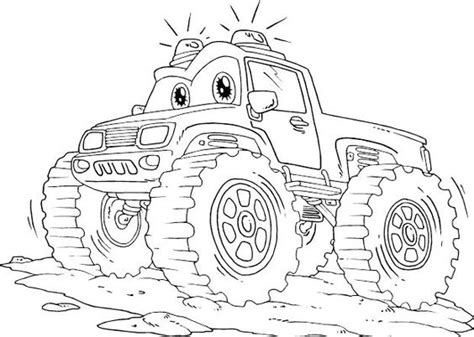 off road truck coloring page monster truck off road with flashing lights coloring page