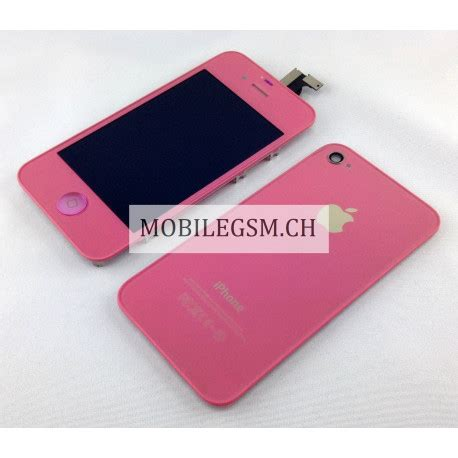 Lcd Iphone 4s Fullset Touchscreen Ori lcd display iphone 4s set mit backcover pink iphone 4s apple mobilegsm ch