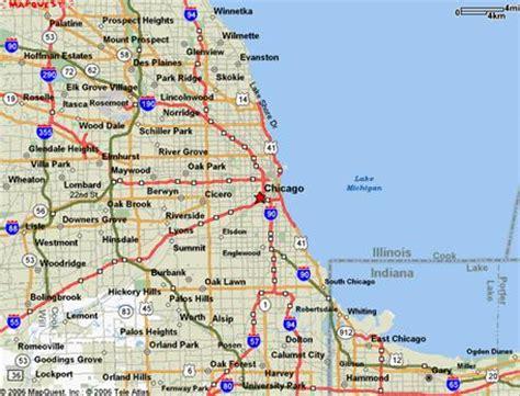 chicago suburb map chicago illinois map