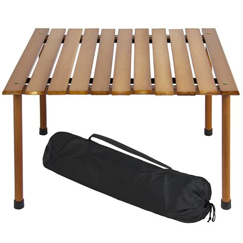 best choice products wooden portable picnic cing table