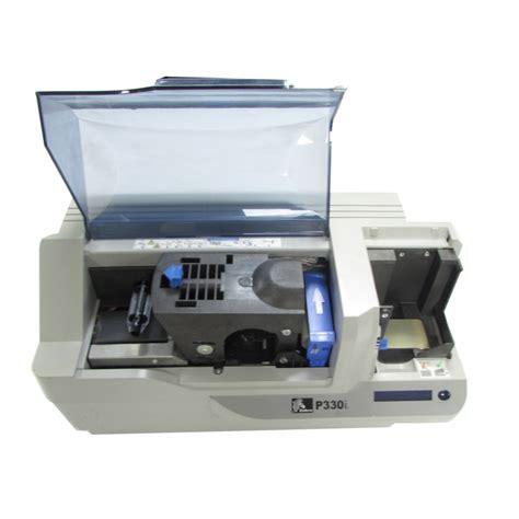 Printer Zebra P330i zebra p330i plastic id usb card printer power on tested printers