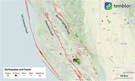california map fault lines the san andreas faults in northern california