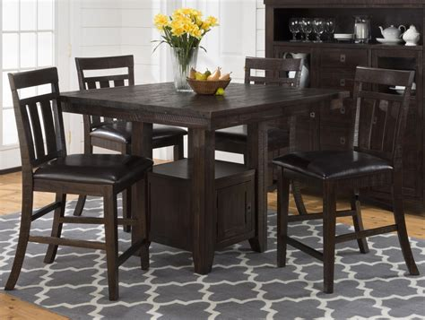 pub table with storage jofran kona grove pub table with storage base and chairs