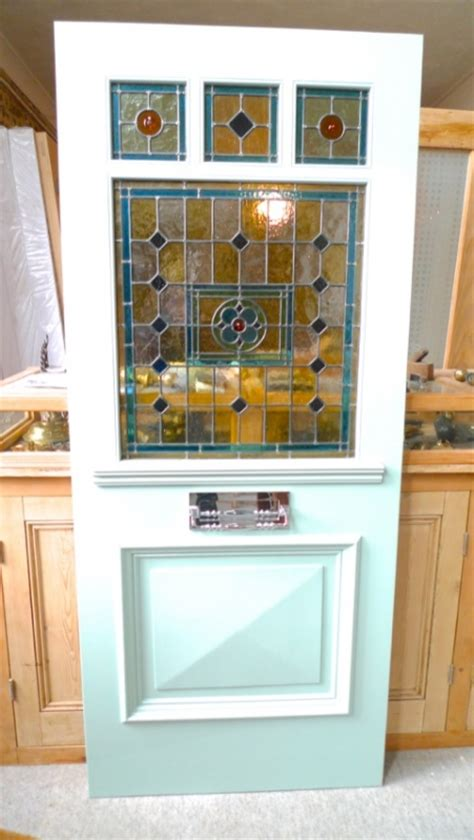 edwardian style front door edwardian style three one panel stained glass front