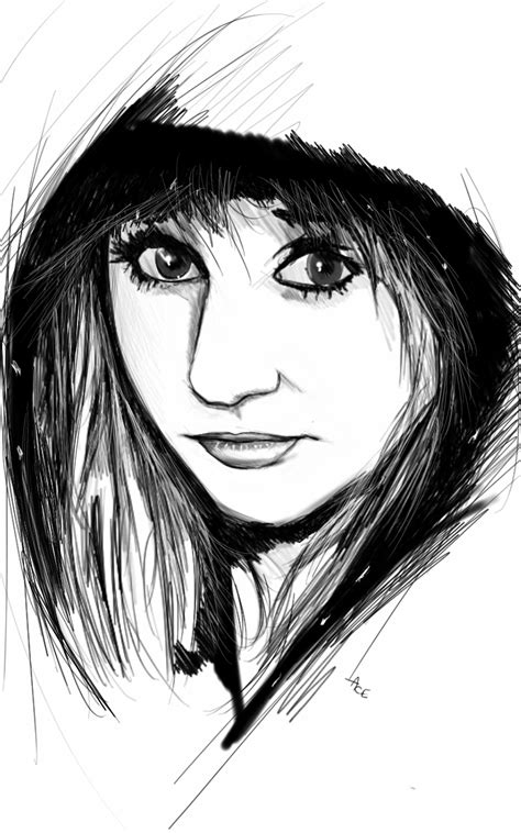 sketchbook pro galaxy note draw something dessin portrait fille