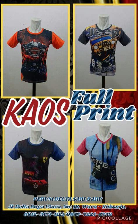 Kaos Fullprint Anak pusat kulakan kaos fullprint karakter anak murah surabaya