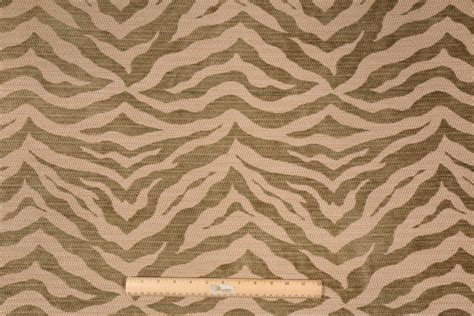 zebra upholstery fabric 1 5 yards zebra chenille tapestry upholstery fabric in boxwood