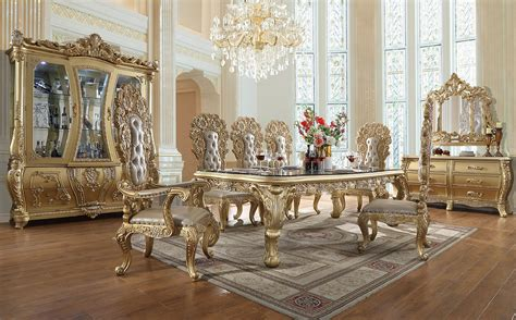 hd  homey design dining set long table victorian