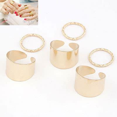 everlas gold color simple fingernail style 6pcs asujewelry