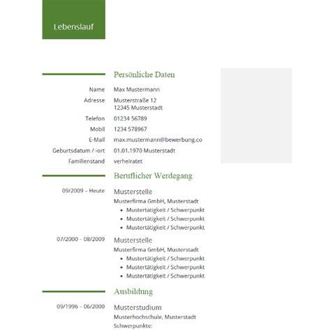 Word Vorlage Lebenslauf Mit Bild Lebenslauf Vorlage F 252 R Word Tabellarischer Lebenslauf