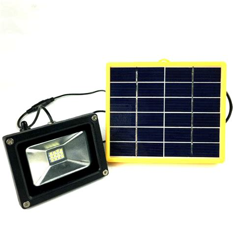 Waterproof 10w Outdoor Solar Power Led Flood Light With Batteries For Solar Lights Outdoor