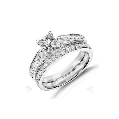bridal sets bridal sets wedding rings white gold size 9