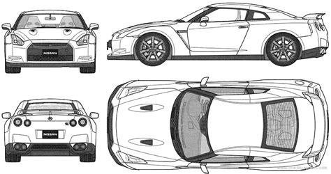 nissan skyline drawing outline nissan skyline r35 blueprint 7 awesome ideas