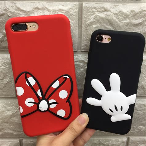 Samsung J2 Prime 3d Silicone Mickey Minnie Mouse Back Cover Lucu 1 fashion 3d mickey minnie mouse silicone soft phone