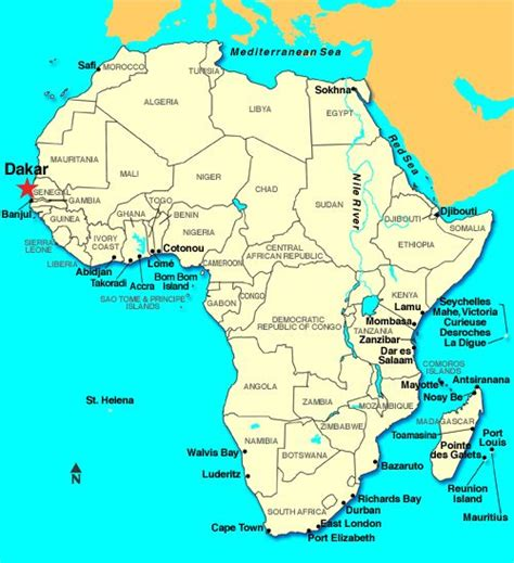 africa map senegal dakar is the largest city and capital of senegal it is