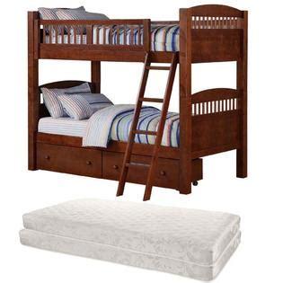 walnut bunk bed bundle home furniture bedroom