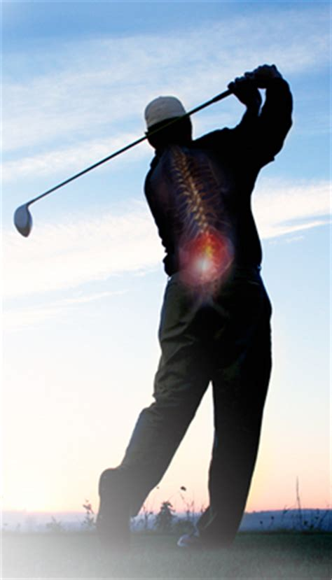 back pain after golf swing golf and chiropractic a natural combination