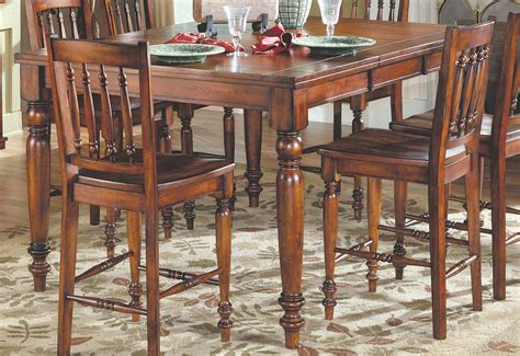 36 X 48 Dining Table With Leaf Homelegance Oxford Pub Dining With Leaf 36h Cherry 729 36