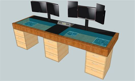 gaming desk plans best computer gaming desk home design ideas