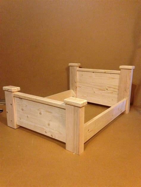 unfinished bed frame unfinished bed frame wooden bed cat pet 100 solid wood