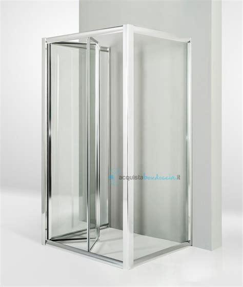 box doccia 70x90x70 box doccia 3 lati con 2 ante fisse e porta a soffietto