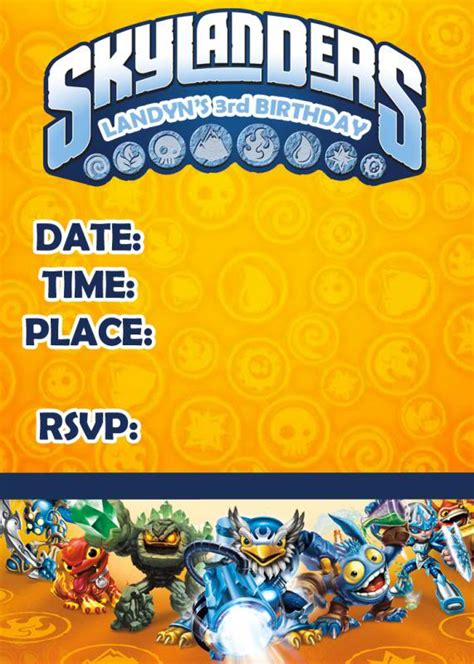 Need Help For A Skylanders Birthday Page 17 The Dis Disney Discussion Forums Disboards Com Skylanders Birthday Invitations Template