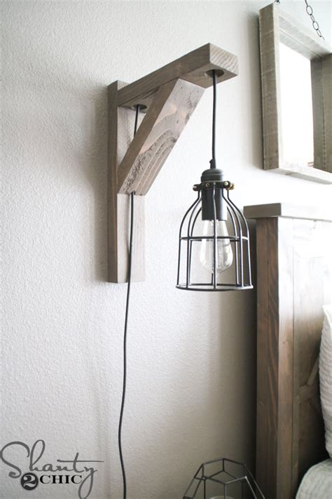 Diy Wall Sconce Light Diy Corbel Sconce Light For 25 Shanty 2 Chic