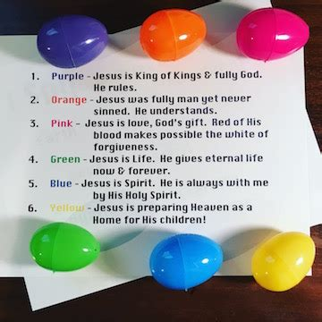 what are easter colors easter eggs colors object lesson
