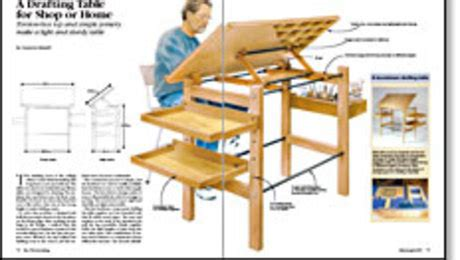 Drafting Table Woodworking Plans A Drafting Table For Shop Or Home Finewoodworking