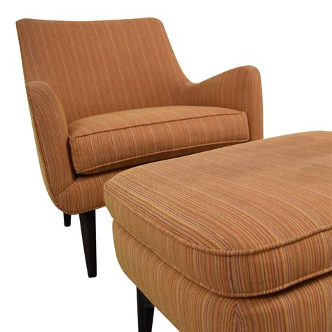 Room And Board Ottoman 86 Room Board Room Board Orange Striped Lounge Chair Ottoman Chairs