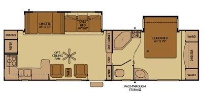 terry fifth wheel floor plans units available for 2009 fleetwood rv terry 285rkds