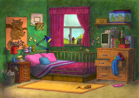 cartoon bedroom bedroom illustration bedroom furniture high resolution