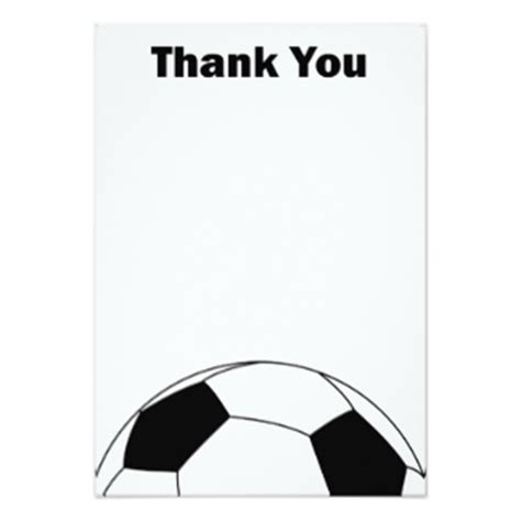 soccer thank you card template soccer invitations announcements zazzle