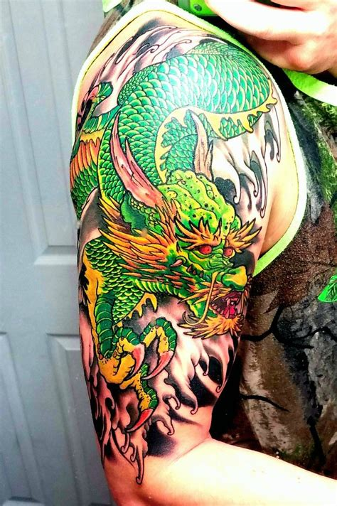 green dragon tattoo green style flips favorite tattoos board