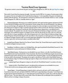 Residential Lease Agreement Template Free Download 9 Vacation Rental Agreement Free Sample Example Format