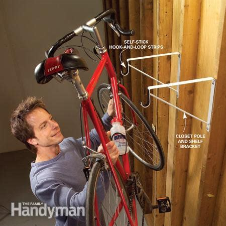 Bike Closet by Garage Storage Diy Tips And Hints The Family Handyman